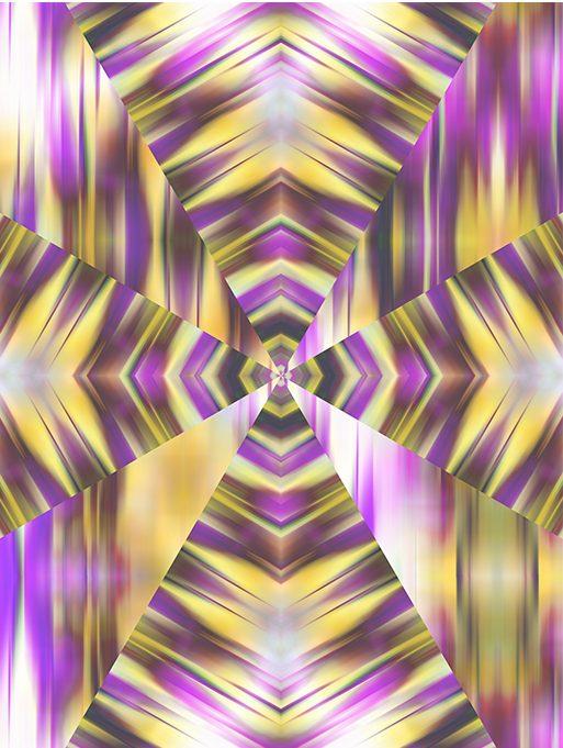 Kaleidoscope Geometric Purple Yellow - Claire Kelly