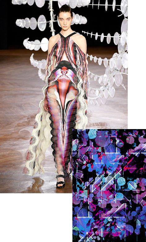 Iris Van Herpe Couture Fall 19 & Patternbank Design Blue Abstract Hues - Beccy Bland